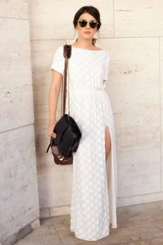 Spring 2013: Day Dreamer #white #neutral #fashion #sheer #maxi #dress #inspiration