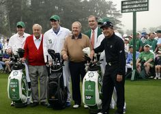 Honorary Starters (2013) | Masters The Big Three at the first tee.