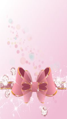 Pink sparkly bow