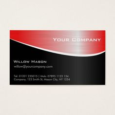 217 best design consultant business cards images on pinterest red steel effect professional business card colourmoves