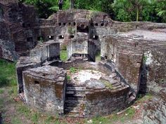 The Historical Site Of Onrust Island, Pulau Seribu - Jakarta. Remains of Dutch-colonial fort.
