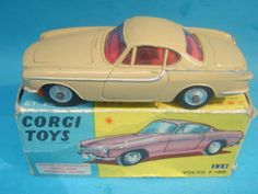 Corgi Toys Vintage 238 Volvo P1800 Saloon CAR Boxed Excellent Rare Beige | eBay