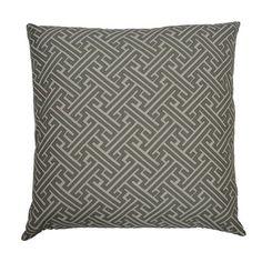 Grey Maze Pillow 24 x24