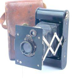 Kodak Vest Pocket Autographic Folding 127 Roll Film Camera & Filter USA c1915-26