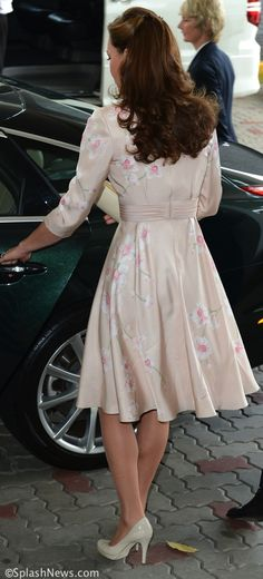 Kate in a pale pink Jenny Packham dress