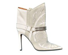 Isabel Marant bottines santiags blanches