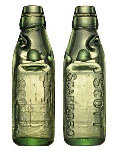 Codd bottle from UK J. SCOTT    SCARBORO    Size : 18,5 cm
