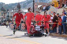 Emma Crawford Coffin Races in Manitou Springs, Colorado.