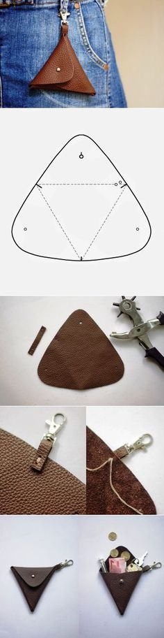 Cute and simple leather pouch idea