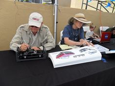 Signing toy G.T.O.s and drawings Bozeman, Mt This was for fundraiser for Industral design program at Montana State U.