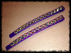 Only $8 http://www.etsy.com/listing/97330853/swarovski-hair-clip-purple-clip-with