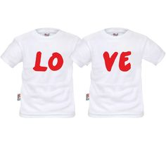 Tee shirts enfant jumeaux : love - Vêtements jumeaux - SiMedio