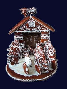 Christmas Gingerbread House, Christmas Nativity Scene, Gingerbread Houses, Christmas Cookies, Christmas Crafts, Xmas, Cookie Box, Biscotti, Holiday Recipes