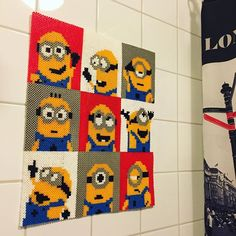 Minion wall decor hama beads by Annnie Bunny - Pattern: https://www.pinterest.com/pin/374291419011786089/