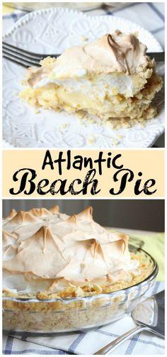 atlantic-beach-pie. reminiscent of lemon meringue pie, but with a twist!