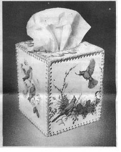Tissue box from old greeting cards. WOOT!