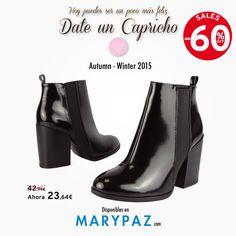 SALES UP TO -60% DTO. ►►► REBAJAS con hasta el 60% dto. en muchos de nuestros artículos en TIENDA y ONLINE www.marypaz.com  ¡ Estamos seguros que te encartará darte un capricho esta semana !  #rebajasmarypaz #shoponline #rebajas #upto60   BOTINES REBAJAS ► http://www.marypaz.com/tienda-online/botin-de-tacon-ancho-con-elastico-53469.html?sku=72596-35