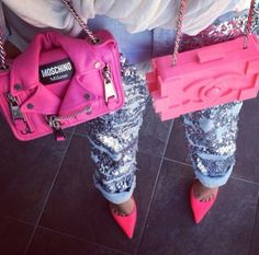 Moschino & Chanel pink purse