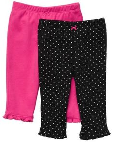 Carter`s Pants - Pink/Black Baby Girl Pants, Carters Baby Girl, Girls Pants, Baby Girls, Little Girl Closet, Newborn Outfits, Outfit Sets, Fall Outfits, Kids Fashion