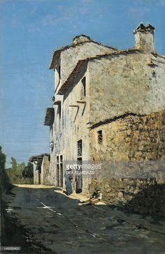 Telemaco Signorini, Around Florence, Rustic Houses