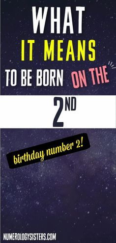 What does the number 2 mean in numerology? It happens to mean a lot. The day you are born can determine who you are and what you like to do. It can even help determine who you will become and where you will go in life. People who are born on certain days and at certain times tend to have certain personality traits. So they are defined differently than those who are born on other days and at other times. Like those whose birthday is on the 2nd. Life Path 2, Life Path Number, Sign Meaning, Lucky Stone, Angel Numbers, Birthday Numbers, Guardian Angels, Bad Mood, It's Meant To Be