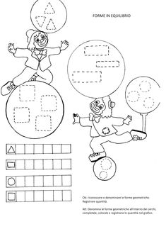 Occupational Therapy Activities, Le Clown, Canti, Worksheets For Kids, Doll Crafts, Big Shot, Coloring Pages, Crafts For Kids, Carnival