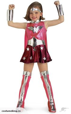 Wonder Woman Superhero Pink Girls Costume S | Trade Me