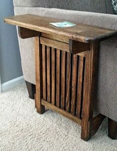 1600 wood plans - Space Saving End Table.Great idea for downstairs depending on the room we have after the furniture gets put in there. building furniture building projects Woodworking Drawings - Get A Lifetime Of Project Ideas and Inspiration! Diy Projects Plans, Woodworking Projects Diy, Woodworking Furniture, Fine Woodworking, Diy Wood Projects, Furniture Projects, Diy Furniture, Project Ideas, Popular Woodworking