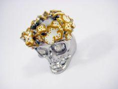 Alexander Mcqueen Skull Ring - http://designerjewelrygalleria.com/alexander-mcqueen/alexander-mcqueen-skull-ring/
