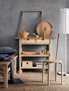 Ikea Forhoja Cart Ideas For Every Home - DigsDigs Ikea Forhoja, Frosta Ikea, Modern Farmhouse Kitchens, Farmhouse Kitchen Decor, Ikea Kitchen, White Kitchen Cart, Small Cottage Kitchen, Ikea Inspiration, Layout Design