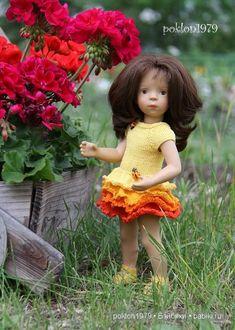 Ателье для Сильвии. Игровые куклы Petitcollin. Minouche 35 см / Одежда и обувь для кукол своими руками / Бэйбики. Куклы фото. Одежда для кукол