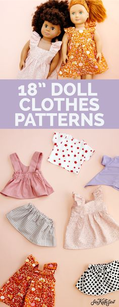 Sewing Doll Clothes, American Doll Clothes, Girl Doll Clothes, Barbie Clothes, Girl Dolls, Ag Dolls, Barbie Doll, Doll Dress Patterns, Doll Sewing Patterns