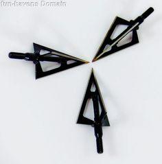 Archery hunting broad head arrow tips 3 blades steel aluminium   Arc 0043