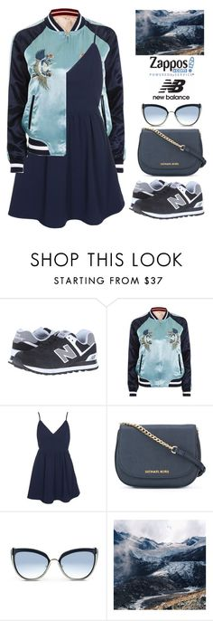 """""""Run the World in New Balance"""" by bmaroso ❤ liked on Polyvore featuring New Balance Classics, Topshop, Glamorous, MICHAEL Michael Kors, Karl Lagerfeld, Gaia and NewBalance"""