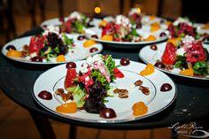 Freah greens served with fruit, fetta chesse, sugared walnuts & a tasty raspberry vinaigrette | Light Rain Images | villasiena.cc