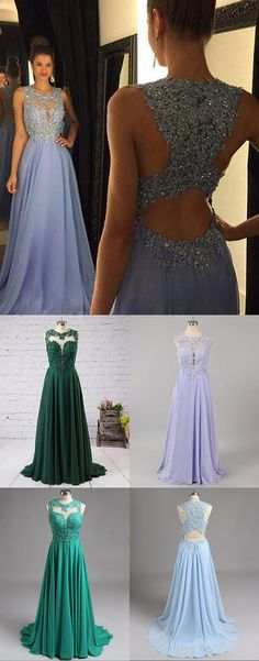 Lace Prom Dress with Beading,Elegant Prom Dress,Long Formal Party Gown,70117