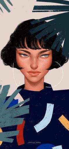 Bellezze che sfidano il tempo: i ritratti femminili di Janice Sung Portrait Illustration, Illustration Girl, Digital Illustration, Digital Portrait, Portrait Art, Art Sketches, Art Drawings, Illustrations And Posters, Fashion Illustrations