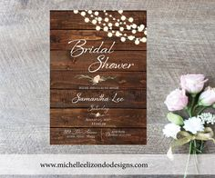 A personal favorite from my Etsy shop https://www.etsy.com/listing/198752258/rustic-bridal-shower-invitation-digital