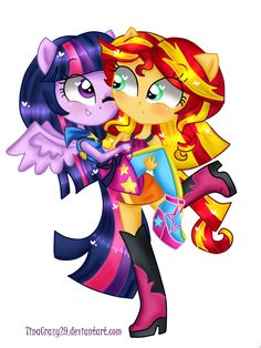 Sunset and Twily by TinaCrazy29 on DeviantArt