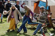 Classic Race Aarhus 27-29 May 2016 - Hippie camping on the infield of the Aarhus street circuit.