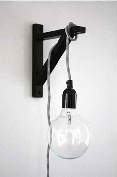 Bracket wall sconce dino sanchez pinterest wall sconces wall 31 home decor hacks that are borderline genius cordshanging lights bedroombedroom lightingikea aloadofball Image collections