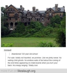 Abandoned 123 year old school for sale