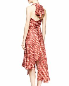 THE ROW Loam Printed Halter Dress - Neiman Marcus