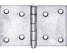 Scharnier breit mit vernietetem Edelstahlstift, 60 x 90 mm, Edelstahl