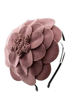 CUTE N' LOVELY MULTILAYER FLOWER HEAD BAND (Old Rose color) - $18.00