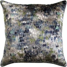 Painted Velvet Pillow 22x22 - Ryan Studio | Luxe Home Philadelphia