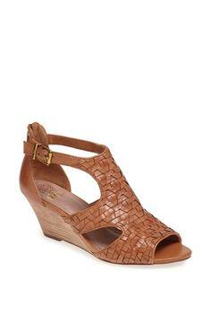 Elliott Lucca 'Lia' Woven Leather Wedge Sandal | Nordstrom