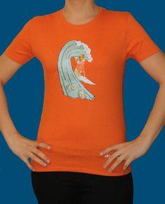 Champalao modelo mujer. Naya surf naranja.