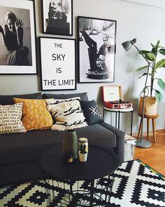 Home Wall Decor Ideas - Living room Living Room Interior, Home Living Room, Living Room Decor, Living Room Inspiration, Home Decor Inspiration, Decor Ideas, Deco Boheme Chic, Deco Retro, Ideas Hogar