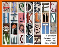Alphabet Photos, Alphabet Art, Letter Art, Alphabet Photography, Image Photography, Name Frame, What Image, Print Release, Gallery Wall
